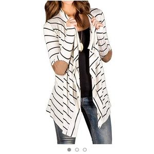 Marc & Steve Long Sleeve Striped Cardigan